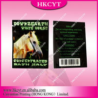 White horse Down 2 earth herbal incense bag with tear notch