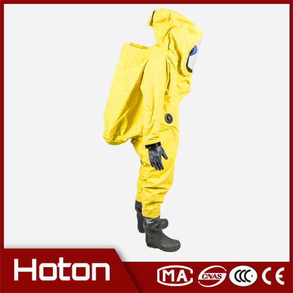 red protective level b chemical suit