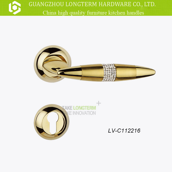 Luxury Modern Crystal Handle for Mortise Lock