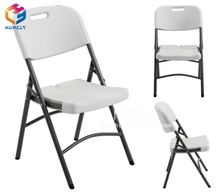 Wholesale modern national Garden cheap stackable outdoor party event wedding dining white HDPE resin plastic used folding chair
