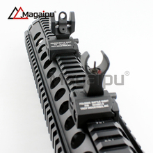 High Quality Micro rifle Style TROY Floding Front and Rear Iron Sight