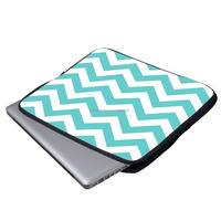 Fashion Blue Wave 12.9-13-13.3 Inch Waterproof Neoprene Laptop Sleeve Case Bag / Notebook Computer Case