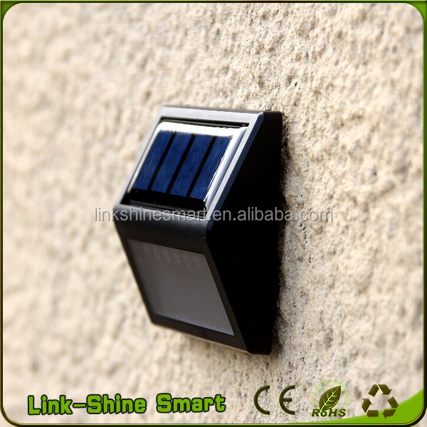 2017 New Product garden solar light decoration LED Solar Wall Light/White Yellow Green Red Colors Solar Garden
