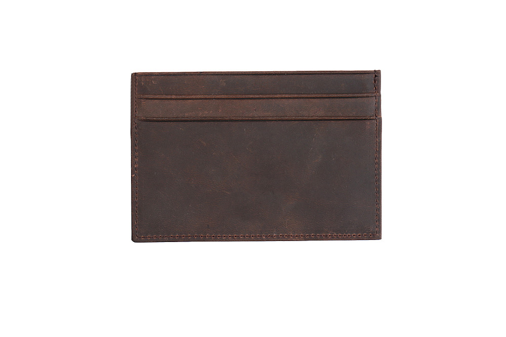 Italian vegetable tanned leather men slim card holder super thin RFID Blocking real leather men card holder