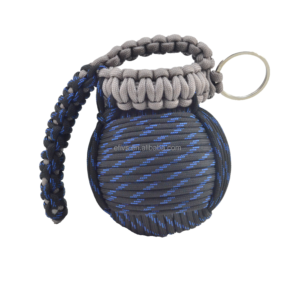 2016 new hot portable survival 550 paracord grenade with survival kit different size emergency outdoor products manufacturer