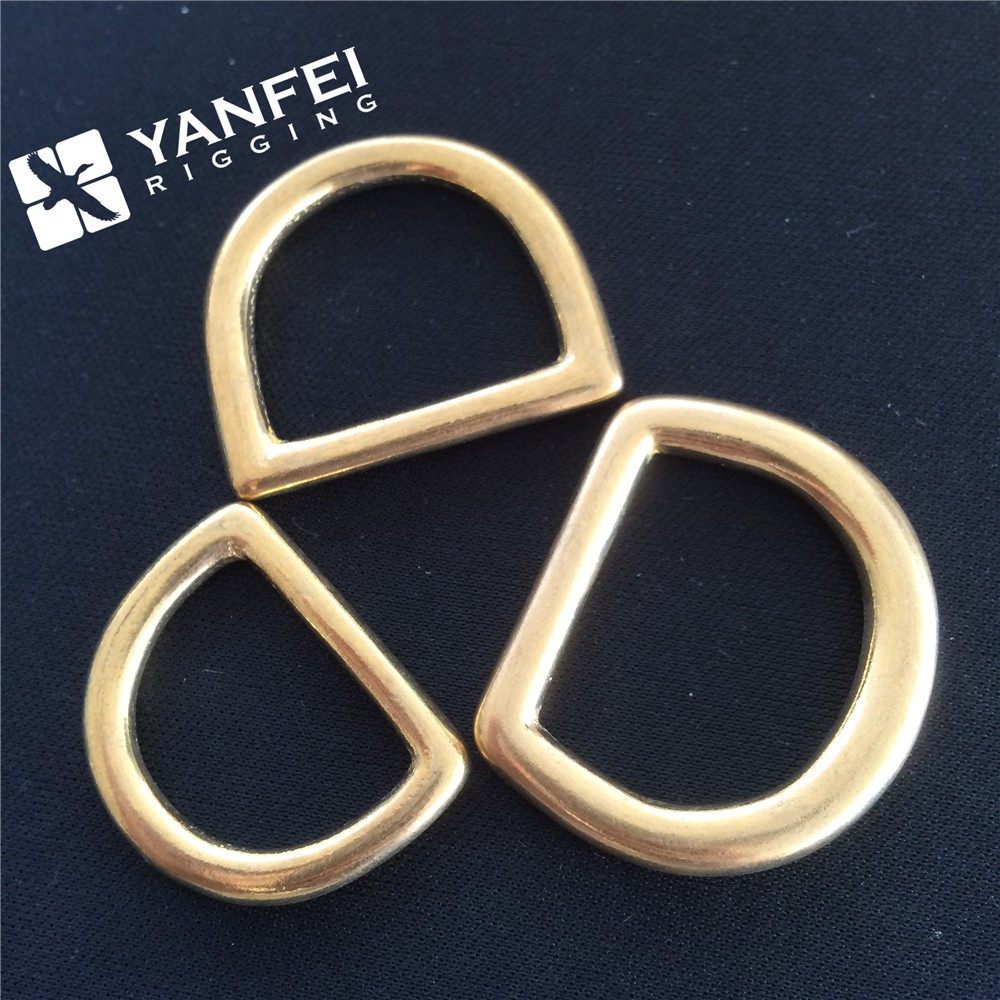 Bag Parts & Accessories Solid Brass Dee Ring