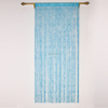 Blue fresh sound proof decorative tassel fringe string curtain