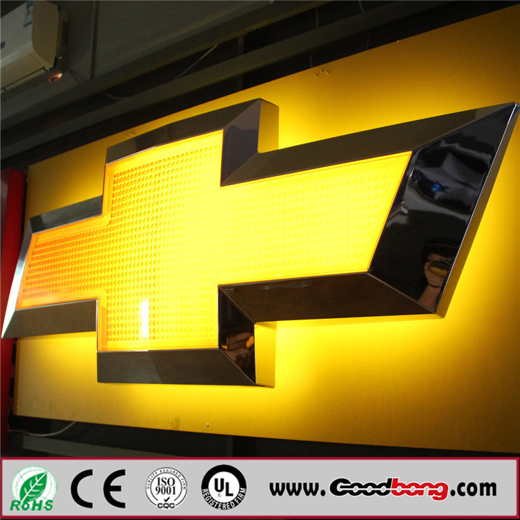 Customized Acrylic Auto LED Lights LED Logo Sign Car Emblems