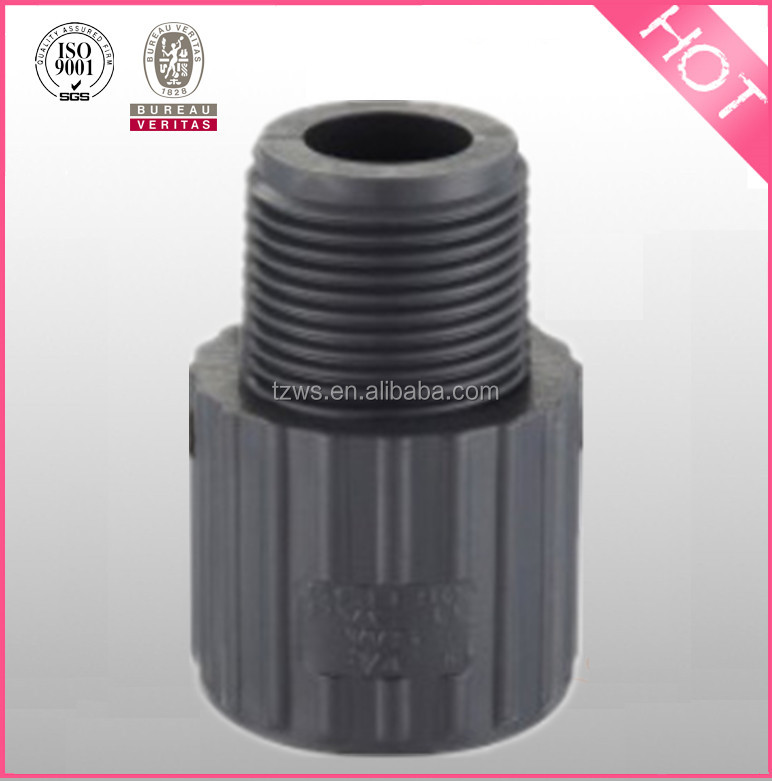High Quality Water Supply Plumbing Materials sch80 Upvc Male Adapter