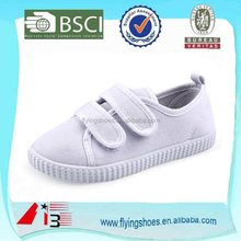 Hot sale canvas comfortable kids classic white shoes