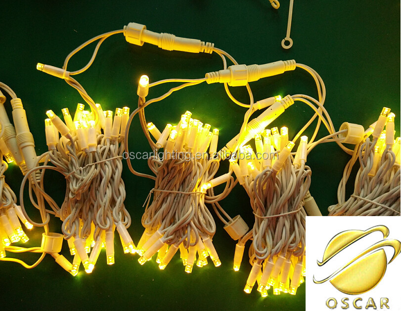Commercial led string lights outdoor IP65 Rubber cable warwmwhite/golden yellow /deck light