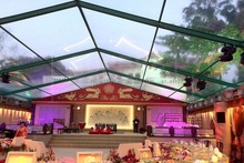 Fashional clear roof wedding tentt with transparent cover for party