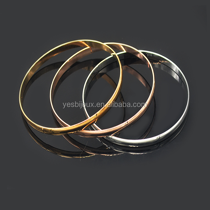 three color gold bangle plain gold bangle jewellery joyeria bijuteria