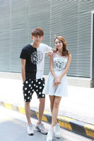 JPSKIRT1504679 Summer Couple Suits -Women Skit and Men Short T-shirt and Pants