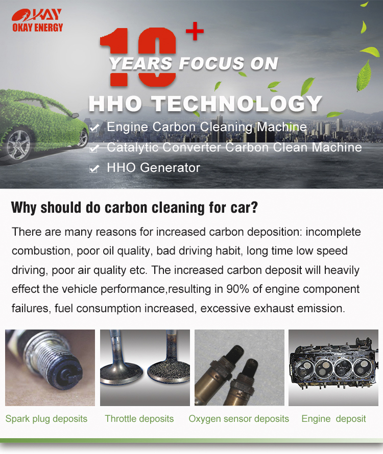 CE approved automatic CCS HHO engine carbon cleaning machine