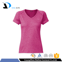 Daijun oem women short sleeve best quality breathable factory free cheap printing 1 dollar t shirt with wholesale price