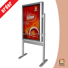 double sided outdoor led open sign led display for advertising photo frame new models led slimstand frame light box