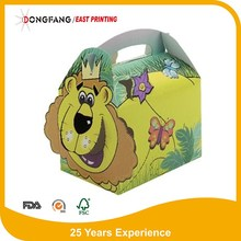 disposable paper foldable kid lunch box
