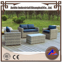 Light grey creative rattan outdoor garden furniture sofa set