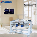 FUWEI 2 heads high speed cap embroidery machinery with 12 needles with good factory price