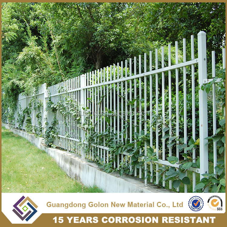 PVC Coated wrought iron tree protection fence, residential home garden fence