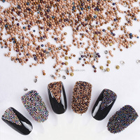 Mini 0.8mm Gardient Beads 6 Colors Shiny Rhinestone 3D Nail Decoration for UV Gel Manicure Nail Art Accessories