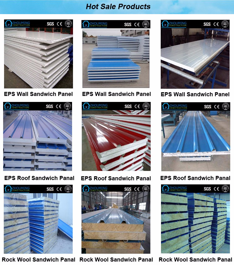 eps steel foam wall sandwich panel