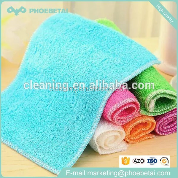 Micro fiber factory price wholesale dish wash 100% bamboo fiber cleaning cloth