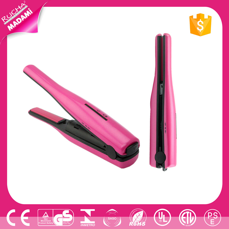 USB Rechargeable cordless travel mini hair straightener wireless travel flat iron