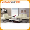 Cheap Comfortable Upholstery Chrome Genuine Leather Sofa Corner