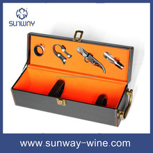 New Arrival custom design folding pu leather wine box for wholesale