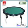"48"" octagon poker table with steel stainless cup holders and high speed cloth"