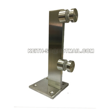 Stainless steel parapet glass railing mini post
