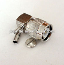 TNC male/plug 90 degree connector for RG174 RG316 cable