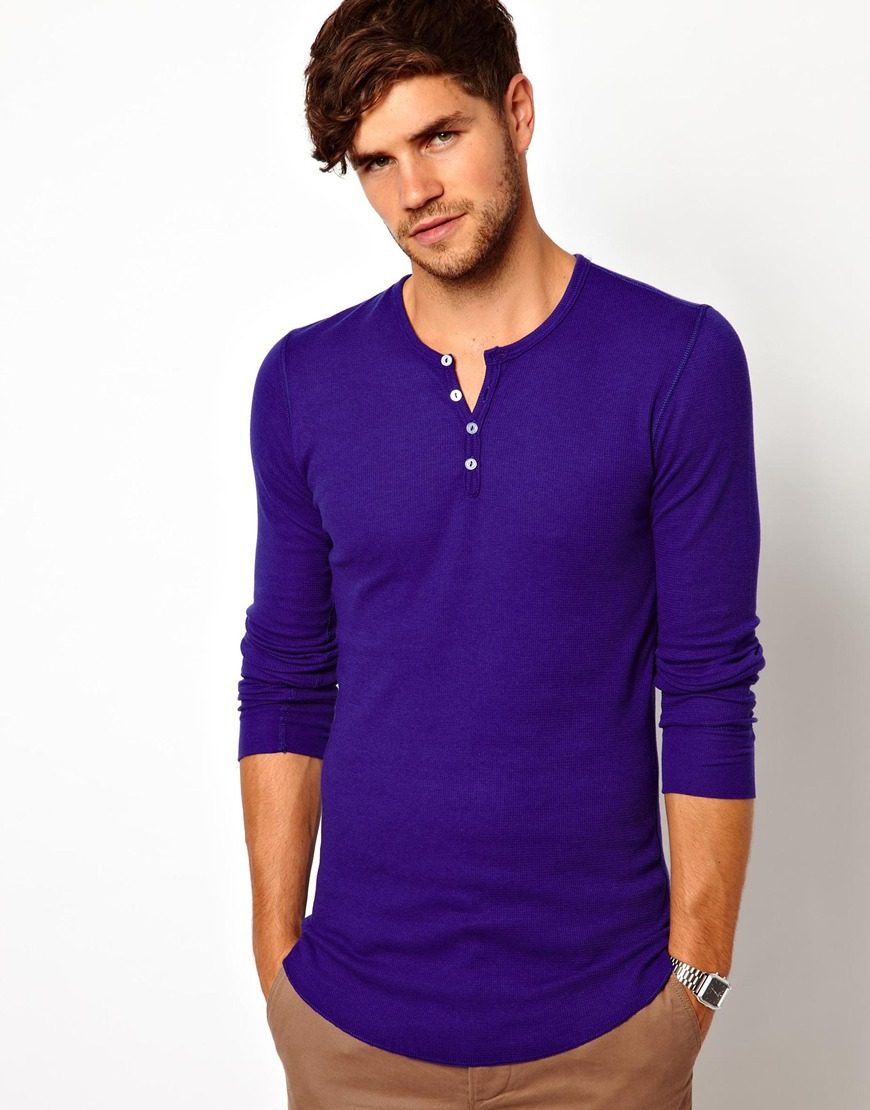 Hot sale purple mens long sleeve t shirt v neck famous for Mens long sleeve t shirts sale