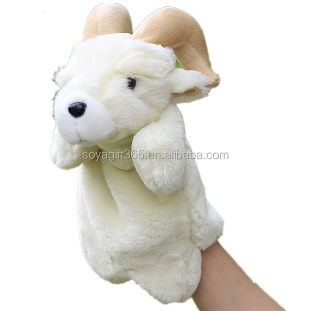 Goat Fluffy Hand Puppets Education Game Story Telling Plush Toys Dolls