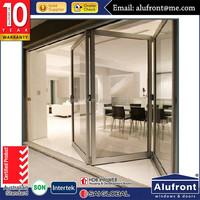 Australia standard aluminum garden accordion patio doors