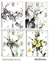 canvas painting wall clock 4 asstd