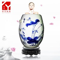 Jingdezhen Negative Ion Life-cultivation Ceramic Urn SPA Khan Body Steam
