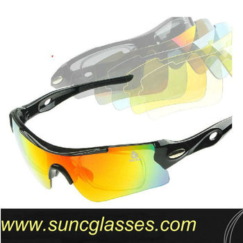 Self-help replacement Unisex fashion stylish interchangeable lens sunglasses