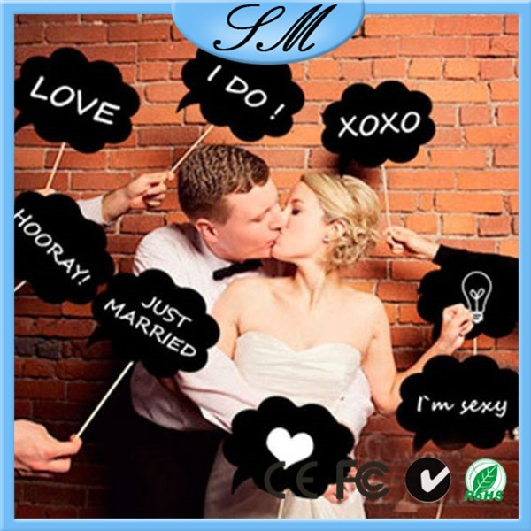 11pcs/set Wedding Photo booth Props Wedding Photo props
