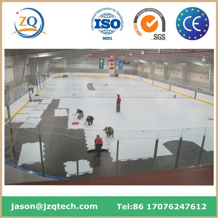 White High Density Polyethylene Plastic/HDPE Ice Rink Barrier