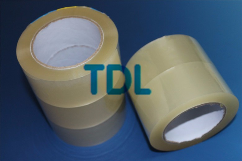 Silent and low noise transparent box tape