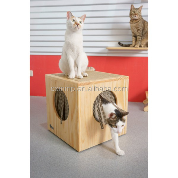 wooden cat tree house cat condo cat furniture
