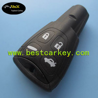 High quality 4 hard button smart key case with emergency key for saab key cover