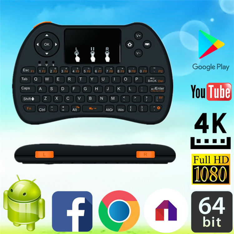 2017 Best price of H9 air mouse for Android TV bluetooth custom wireless keyboard OEM Wireless remote controll