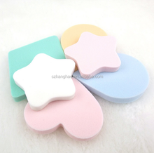 heart-shaped and stars shaped Cosmetic powder puff Soft Comfortable