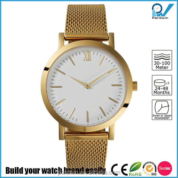 Ultimate fashion women small case design watch all stainless steel case and band 5ATM water resistant sapphire glass