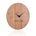 30x0.9cm size Laser font on the bamboo dials Customizable Bamboo wooden watch clock