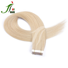 Wholesale top grade 100% unprocessed brazilian PU tape in hair extension russian african american human tape hair extensions